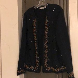 Croft and Barrow embroidered cardigan sweater